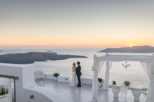 Santorini Greece Elopement at Dana Villas