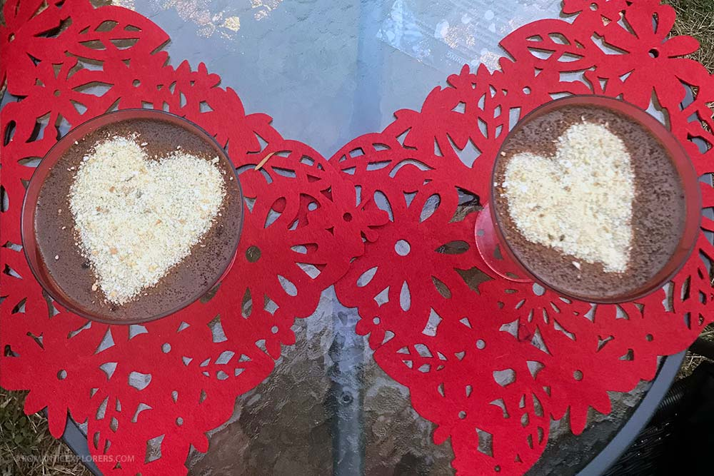 Date Night at Home Pudding with hearts