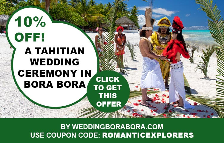 Discount Coupon Code for A Dream Tahitian Wedding Ceremony in Bora Bora