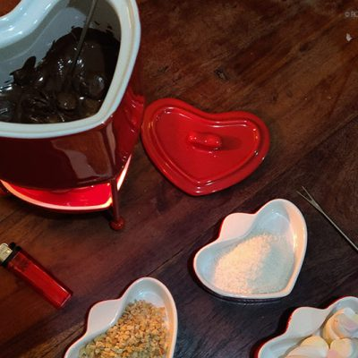Easy Chocolate Fondue Date idea
