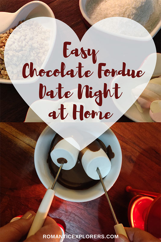 Simple Chocolate Fondue Date Night at Home