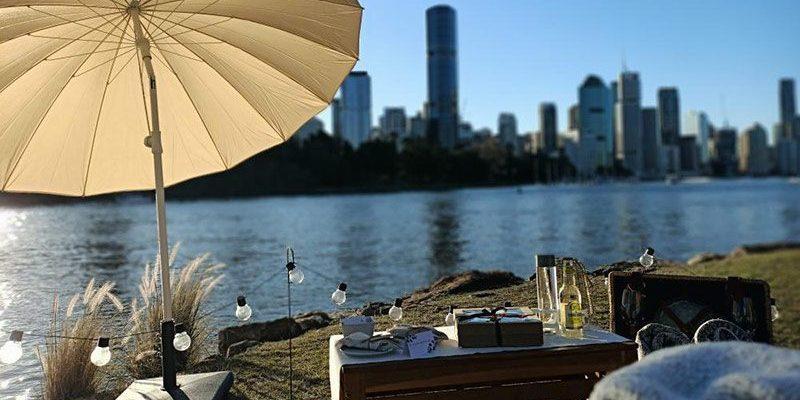 LoveSeat Picnic Set Up Brisbane
