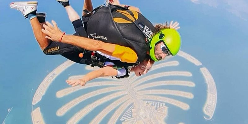 Skydiving over the Palm with Skydive Dubai