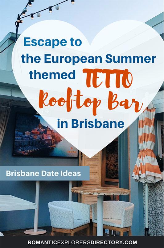 Brisbane Date Ideas - TETTO Rooftop Bar