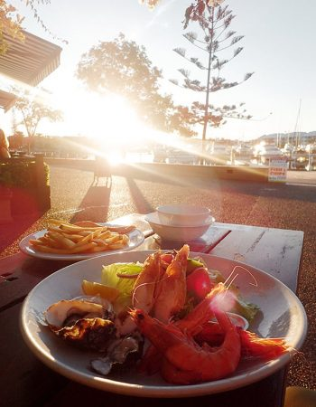 Seafood Restaurant with a Sunset View
