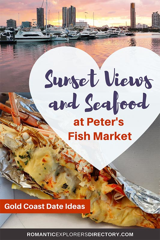 Sunset Views and Seafood at Peters Fish market