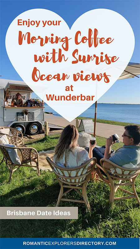 Enjoy your morning coffee with Sunrise ocean views at WUNDERBAR