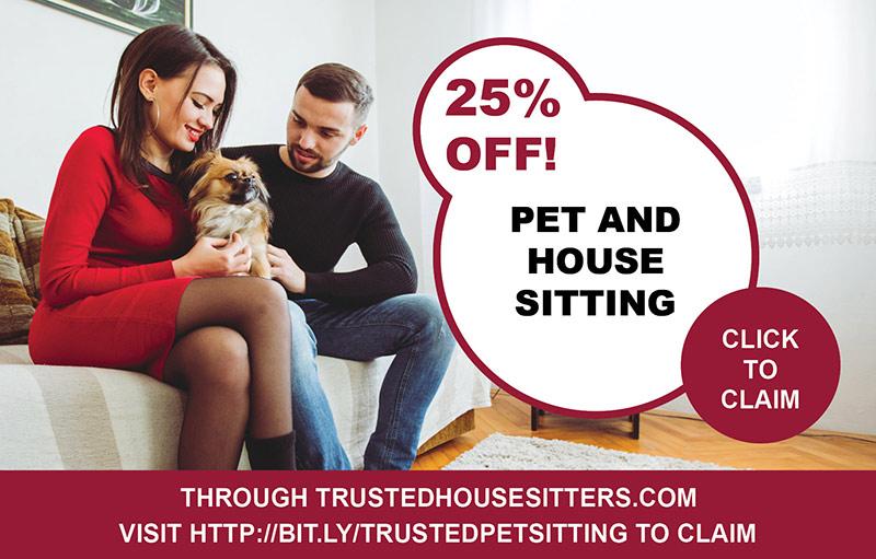TrustedHousesitters Membership discount