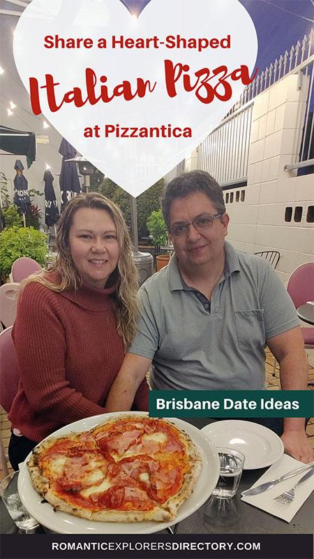 Share heart-shaped Italian Pizza at Romantic Italian Restaurant Pizzantica